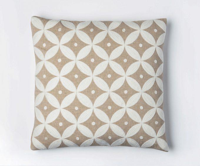 Pacifica neutral linen cushion