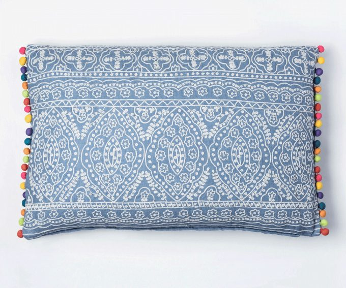 Blue Victoriana cushion