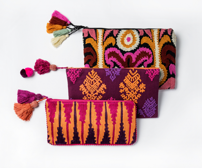 Boho evening bags by Donna Hoyle Design and Decoration, Auckland, New Zealand