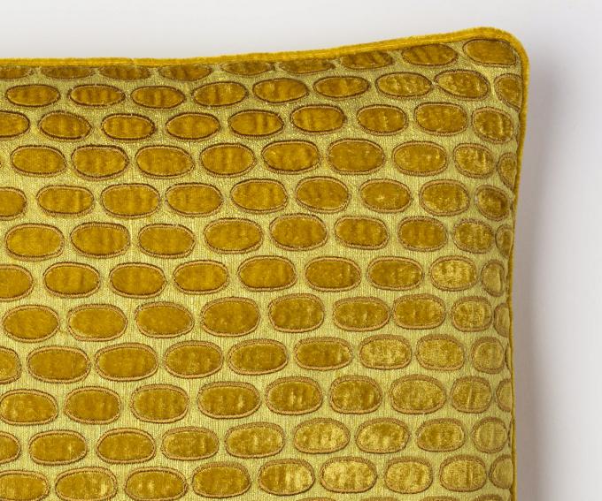Hello – citronella yellow cushion silk velvet 30mm x 40mm
