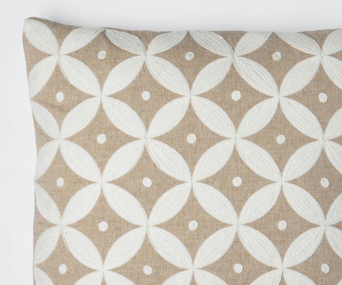 Pacifica large neutral linen cushion