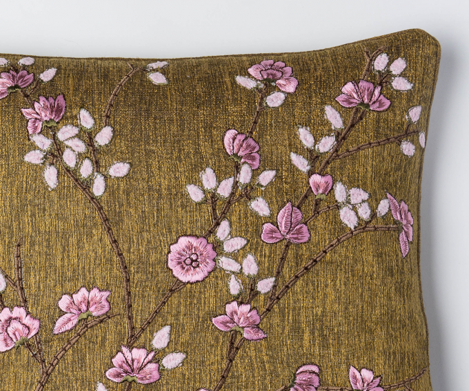Tuileries cushion - Nutty Brown